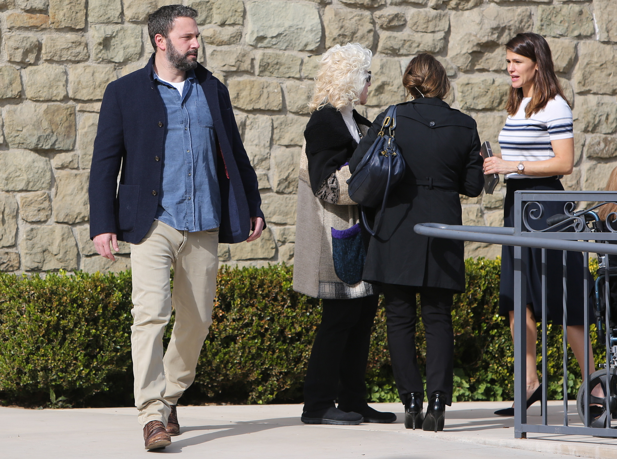 Ben Affleck and Jennifer Garner Reunite for Family Church Outing 2 Months After Finalizing Divorce - The exes also attended a World Series game in October but were seated separately on the suite level of Los Angeles' Dodger Stadium, a source told Us at the time, adding that Garner met up with Miller later that night.