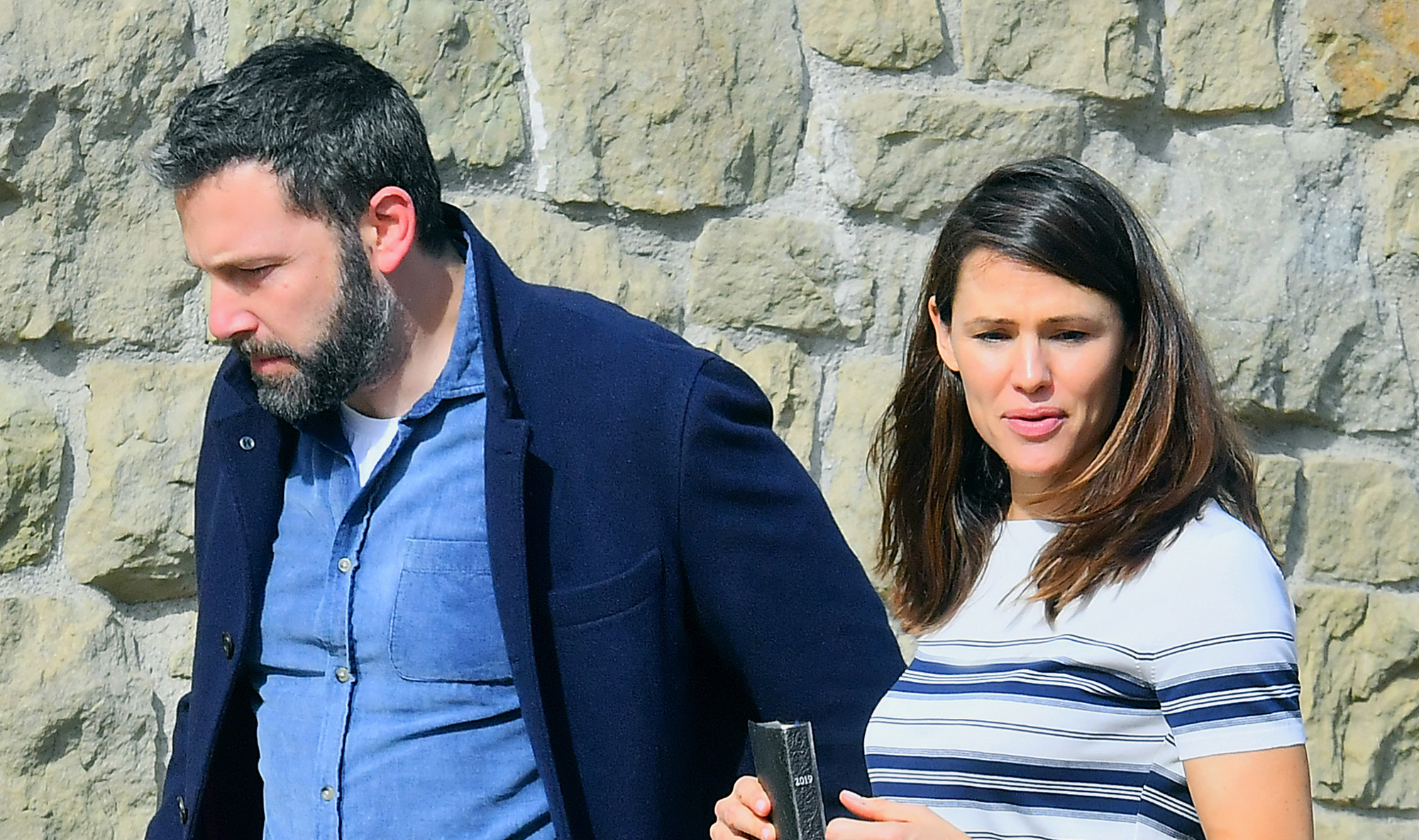 Ben Affleck and Jennifer Garner Reunite for Family Church Outing 2 Months After Finalizing Divorce - Jennifer Garner and Ben Affleck were spotted leaving church together in Pacific Palisades, CA on January 20, 2019.