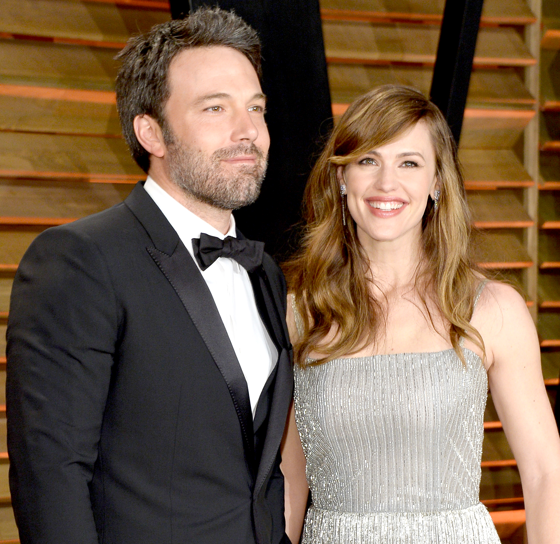 Ben-Affleck-and-Jennifer-Garner-coparenting - WEST HOLLYWOOD, CA – MARCH 02: Actors Ben Affleck (L) and Jennifer Garner attend the 2014 Vanity Fair Oscar Party hosted by Graydon Carter on March 2, 2014 in West Hollywood, California. (Photo by Pascal Le Segretain/Getty Images)