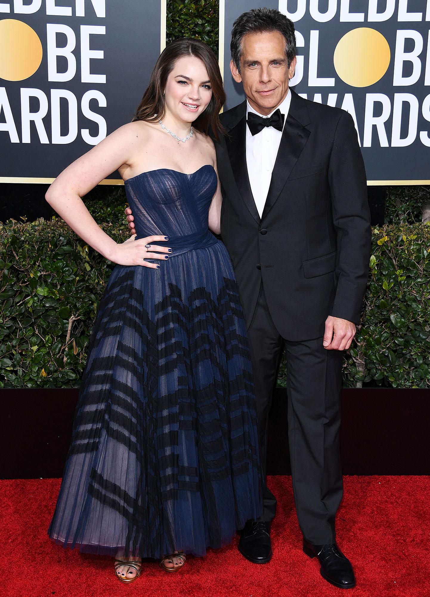 Ben Stiller Daughter Ella Golden Globes 2019