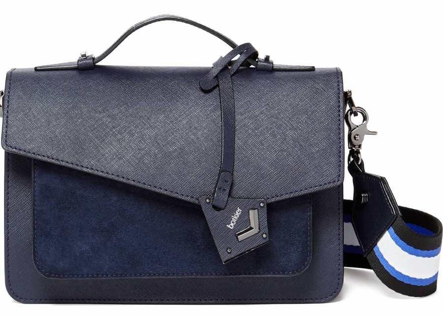 Botkier Cobble Hill Calfskin Leather Cross-Body Bag