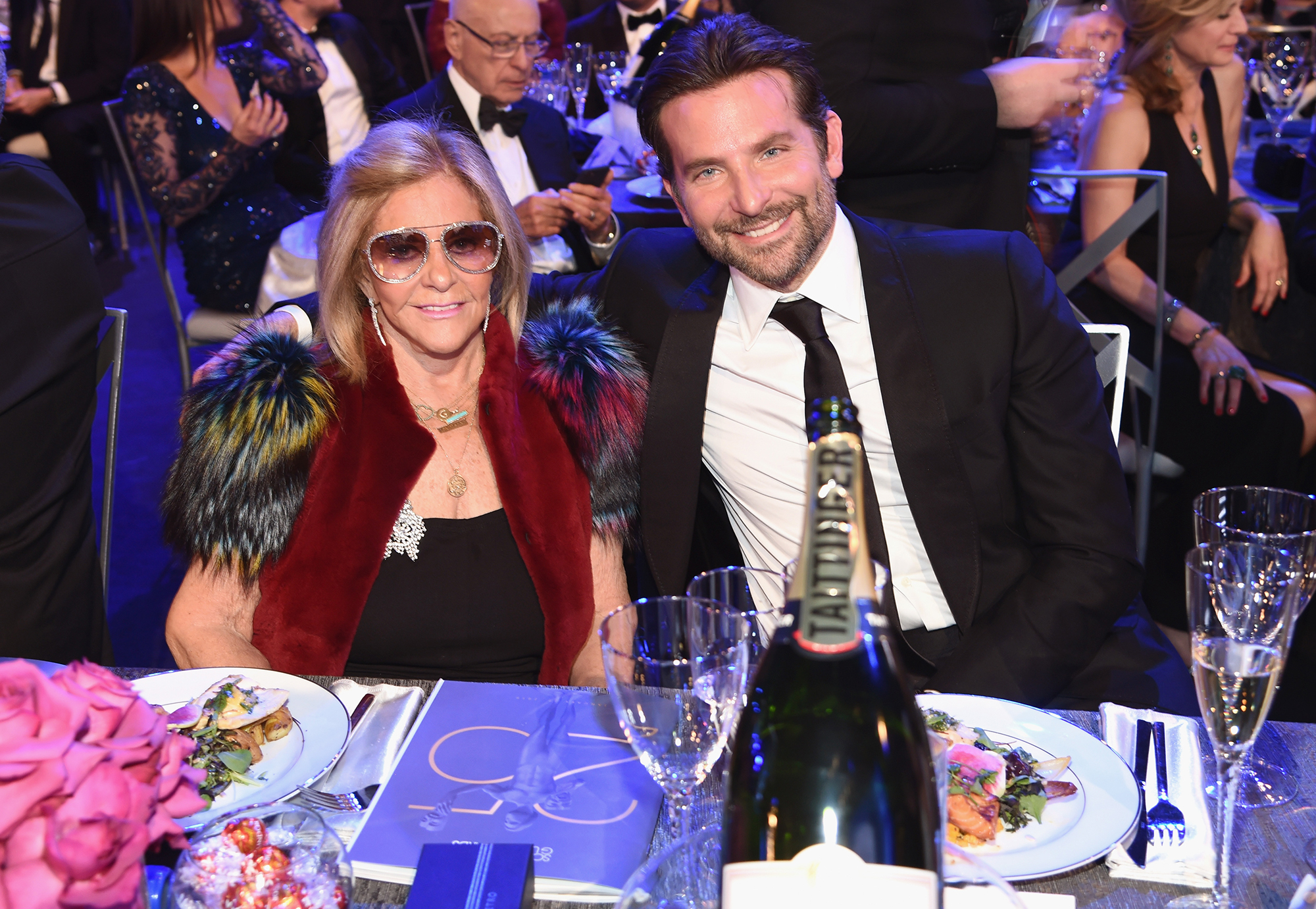 Bradley Cooper Brings His Mom to SAG Awards 2019 as Girlfriend Irina Shayk Works in Europe - Gloria Campano and Bradley Cooper during the 25th Annual Screen Actors Guild Awards at The Shrine Auditorium on January 27, 2019 in Los Angeles, California.