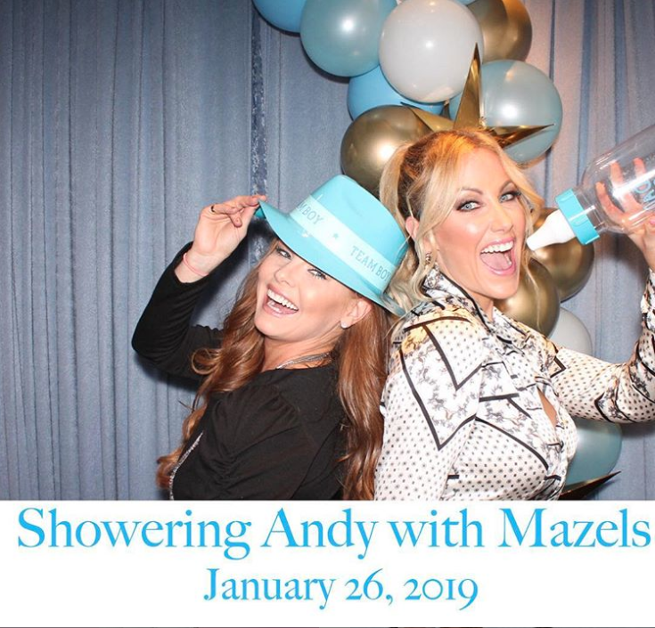 "andy cohen, baby shower, real housewives, brandi redmond, stephanie hollman - Redmond wore a Team Boy hat as she posed with Hollman. ""Oh yes. Love me some Andy and celebrating Baby Cohen with all my sisters is even better,"" Redmond wrote."