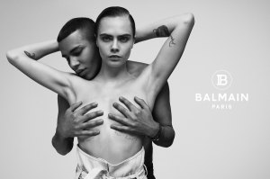 Cara Delevingne Goes Topless in New Balmain Ad