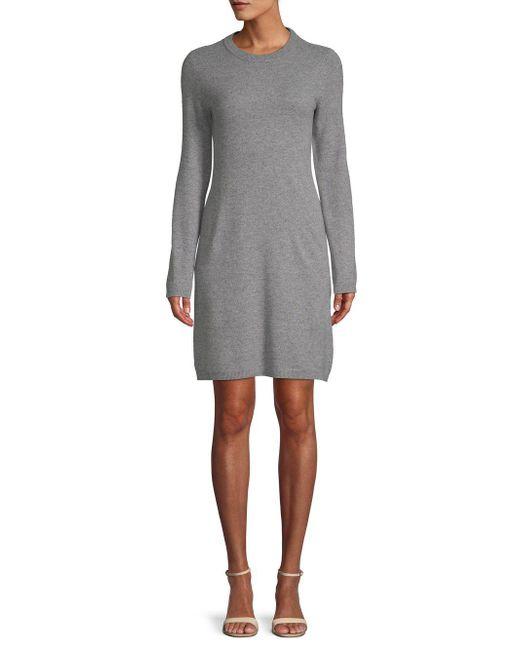 Cashmere Saks Fifth Avenue Cashmere Shift Sweaterdress