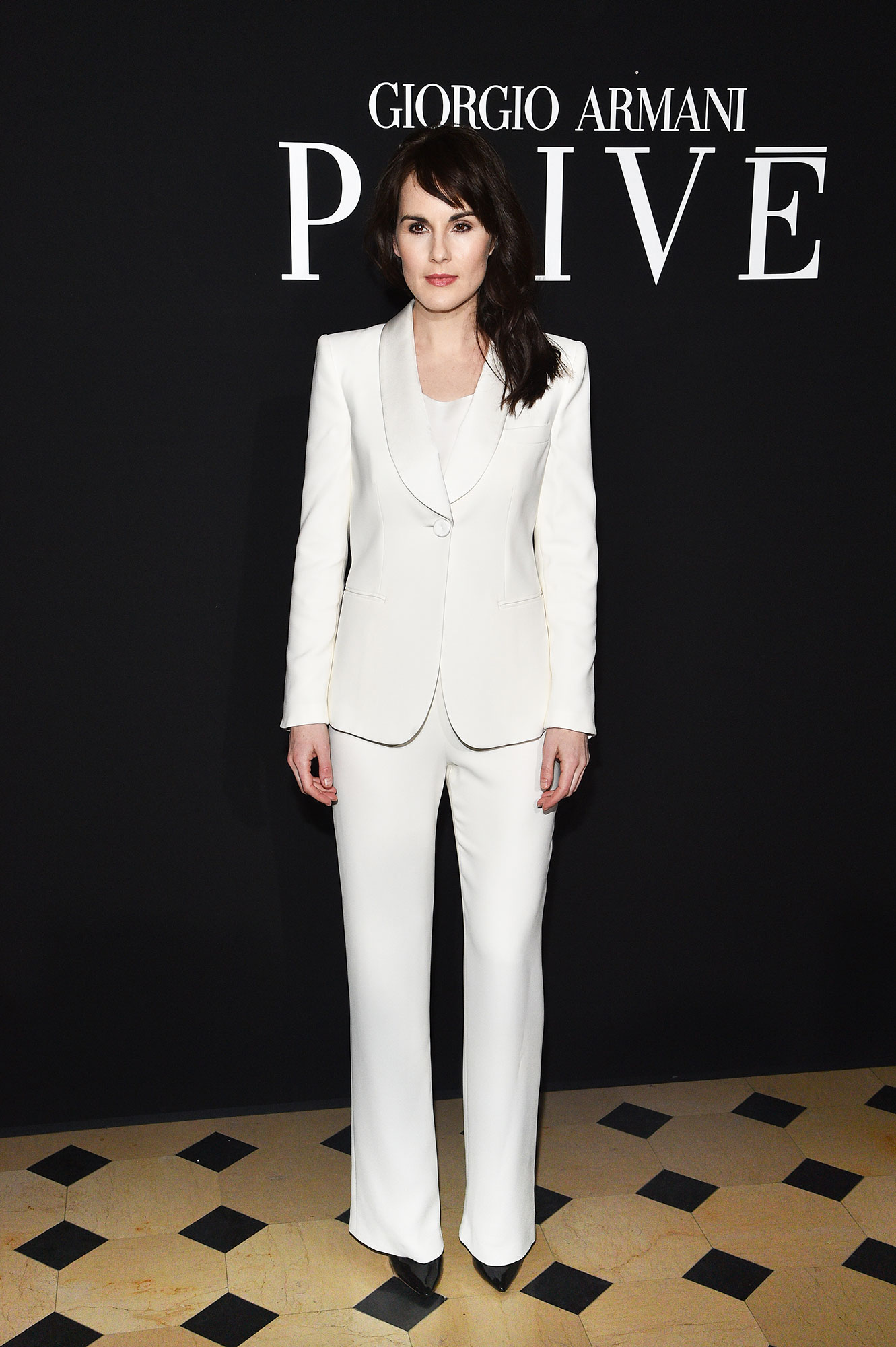 Michelle Dockery - The Downtown Abbey star looked like an HBIC in her all-white-everything two piece at Giorgio Armani Prive on Tuesday, January 22.