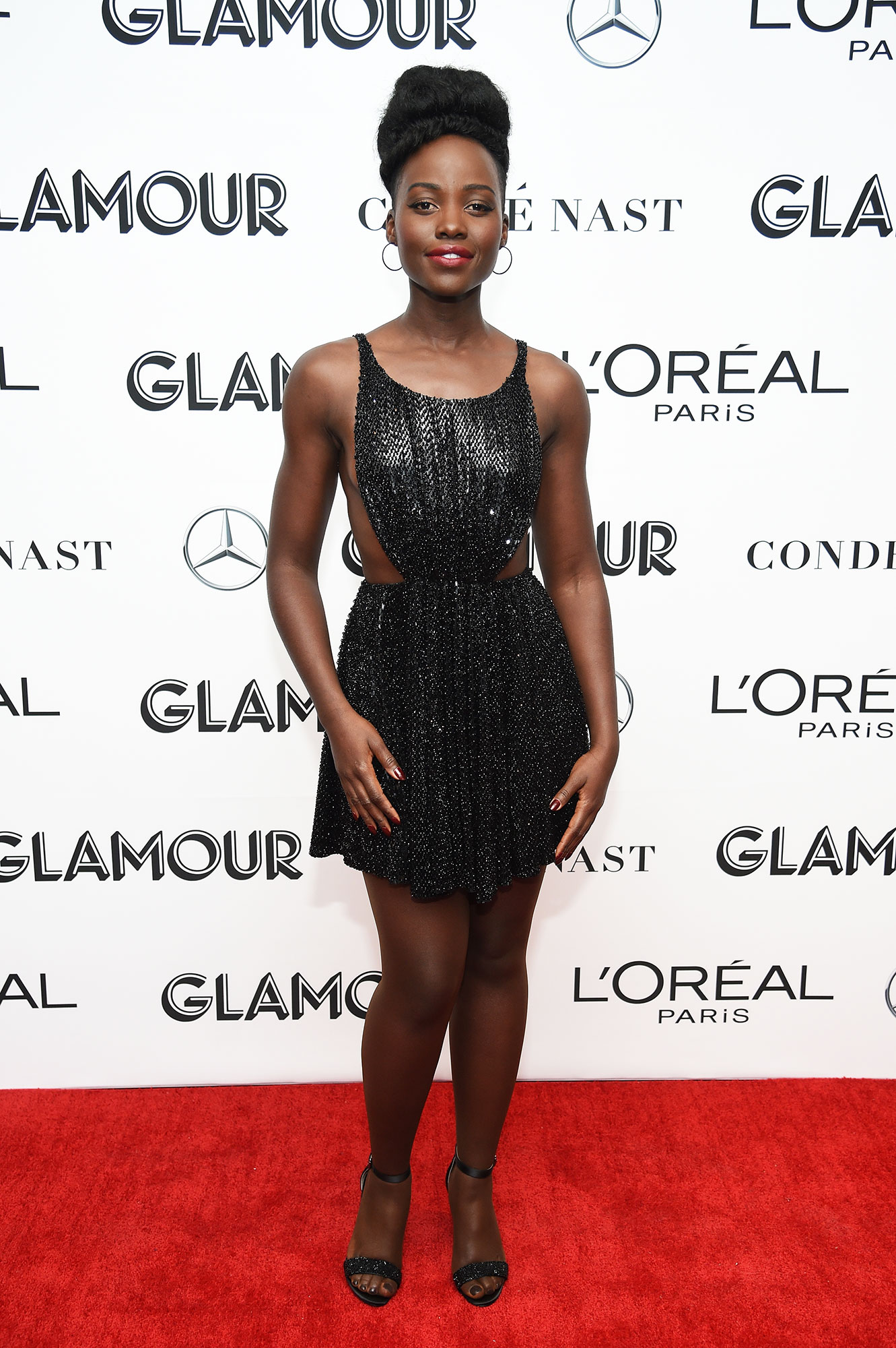 Lupita Nyong'o - In a beaded cutout design on Nov. 12.