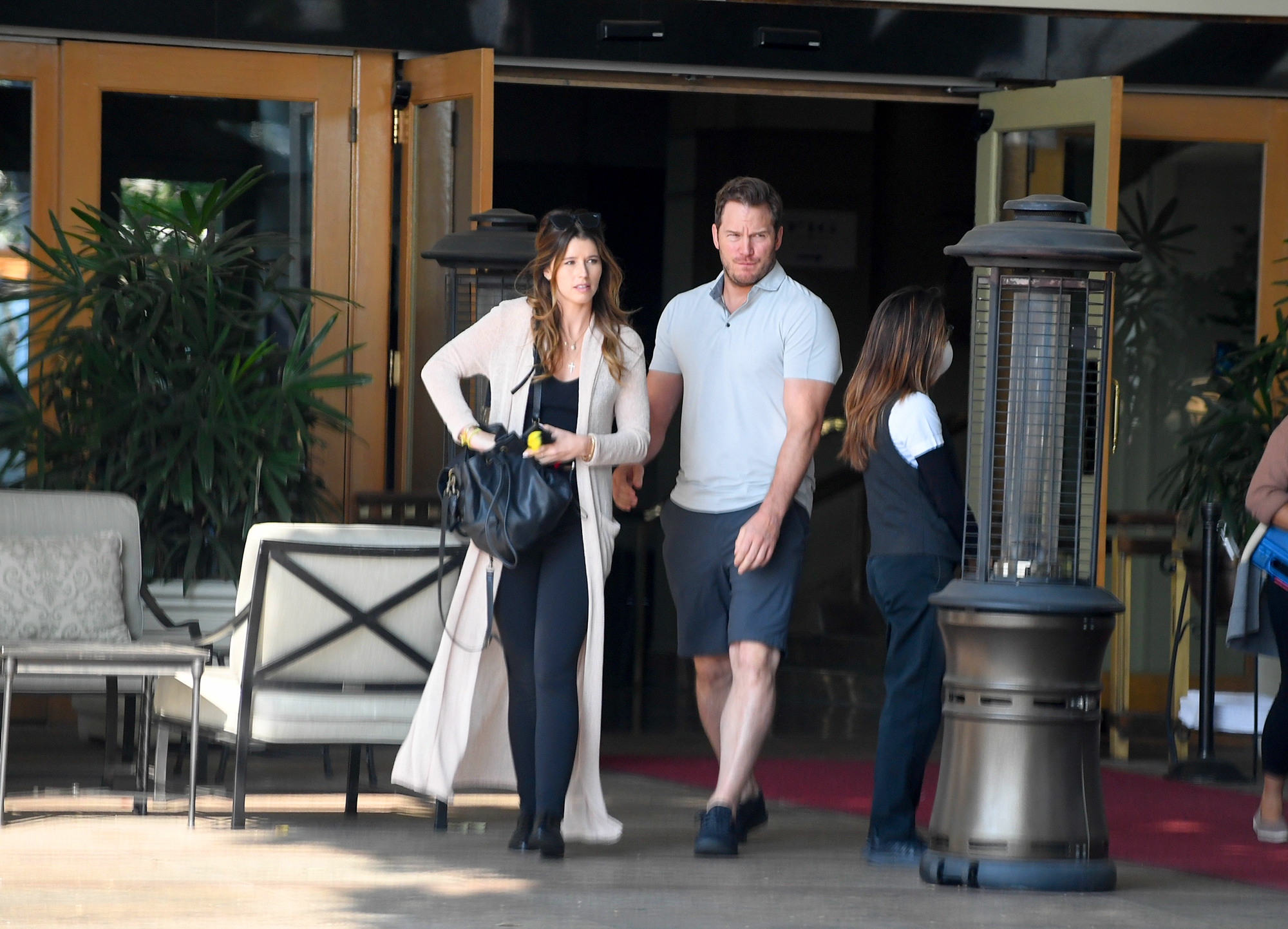 Chris Pratt and Katherine Schwarzenegger: A Timeline of Their Relationship - The Jurassic World: Fallen Kingdom actor met up with his potential future father-in-law in November 2018 when he and Katherine had breakfast with Arnold Schwarzenegger and the Terminator star's longtime girlfriend, Heather Milligan .