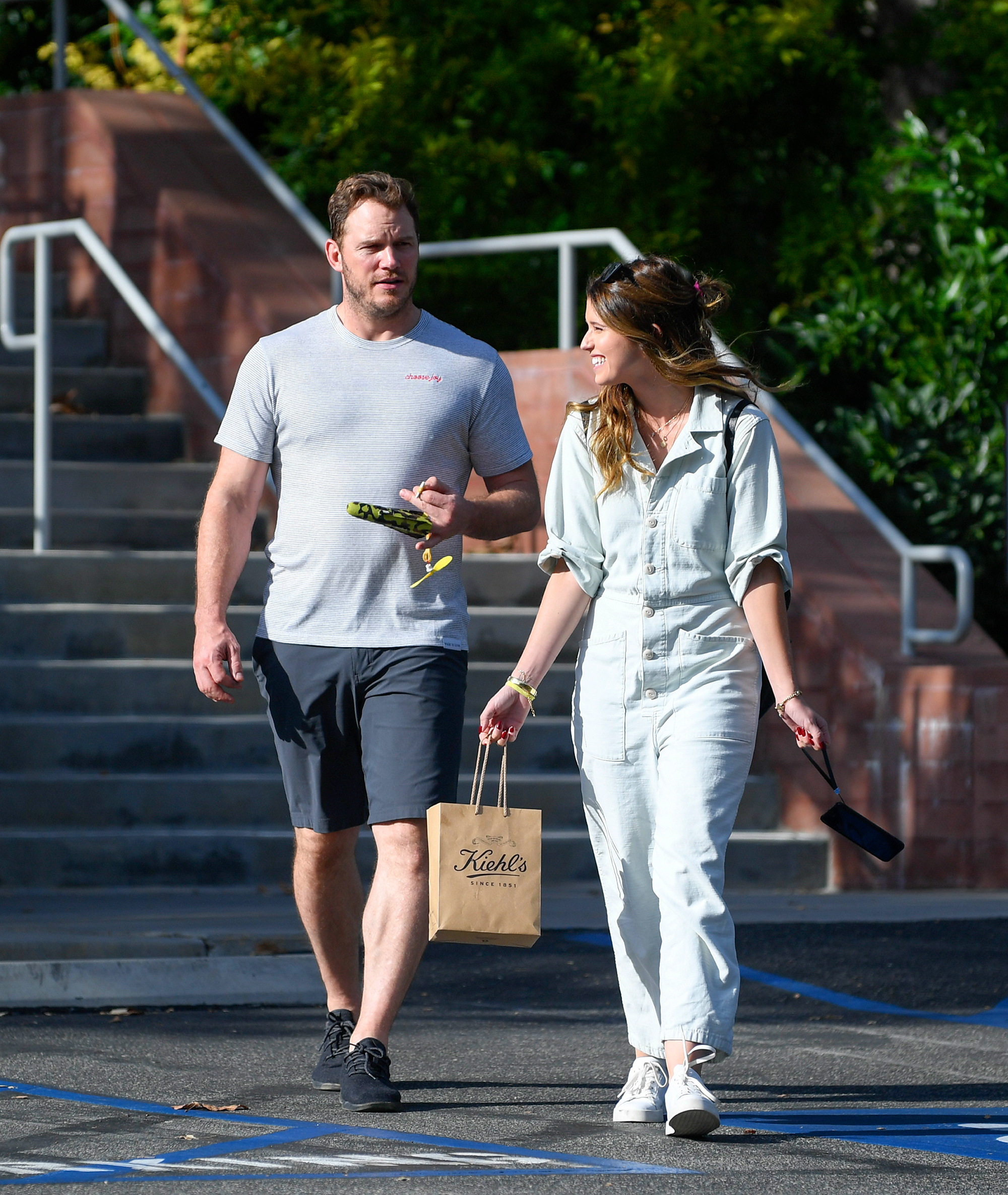 "Chris Pratt and Katherine Schwarzenegger: A Timeline of Their Relationship - ""They'll be engaged soon ,"" a source said of the couple in a November 2018 issue of Us Weekly , noting that Pratt is already turning down work ""so he can spend time with her."""