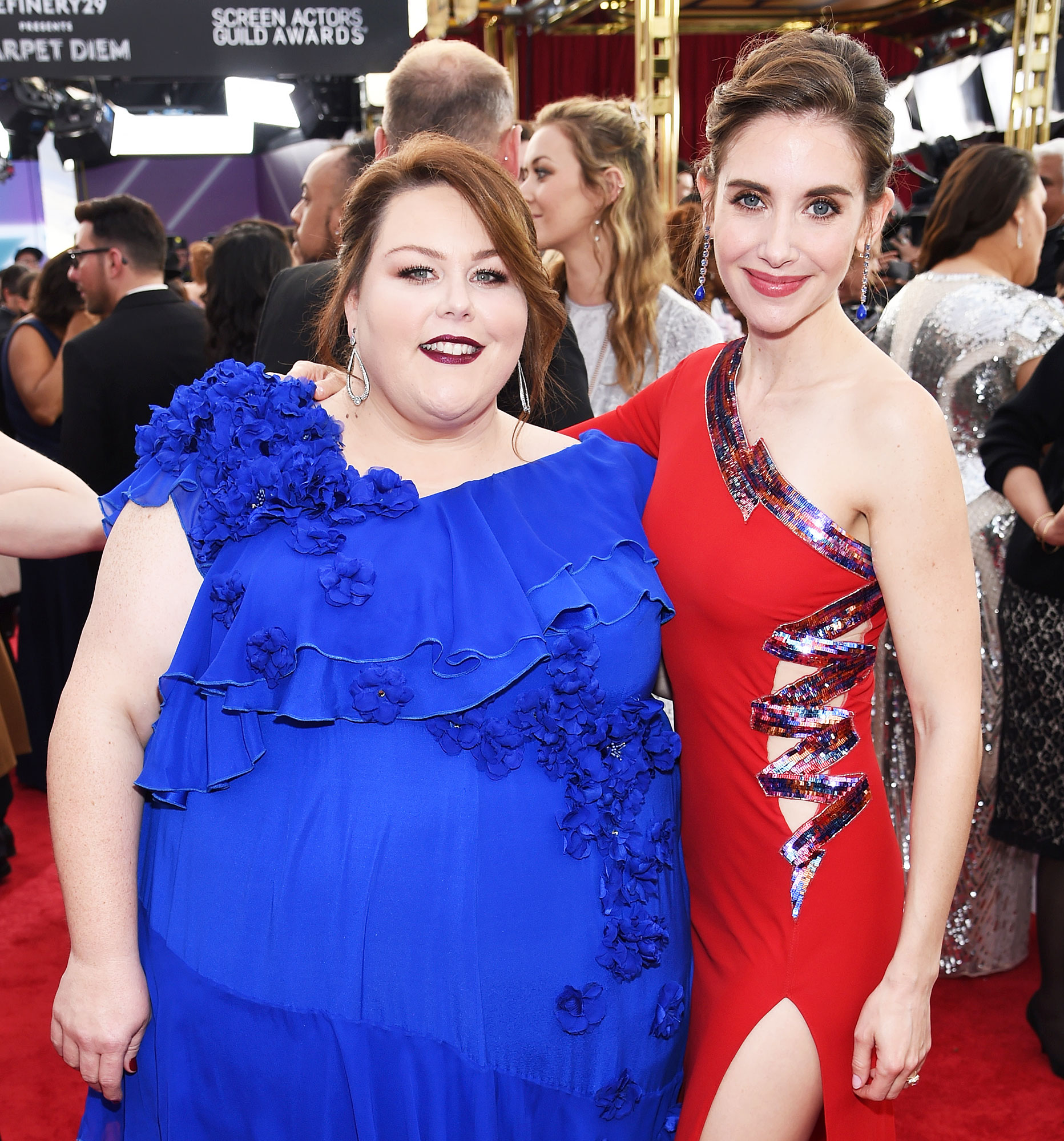 Chrissy Metz Says She and Alison Brie 'Obviously Are Friends' After Golden Globes 2019 Hot Mic Confusion