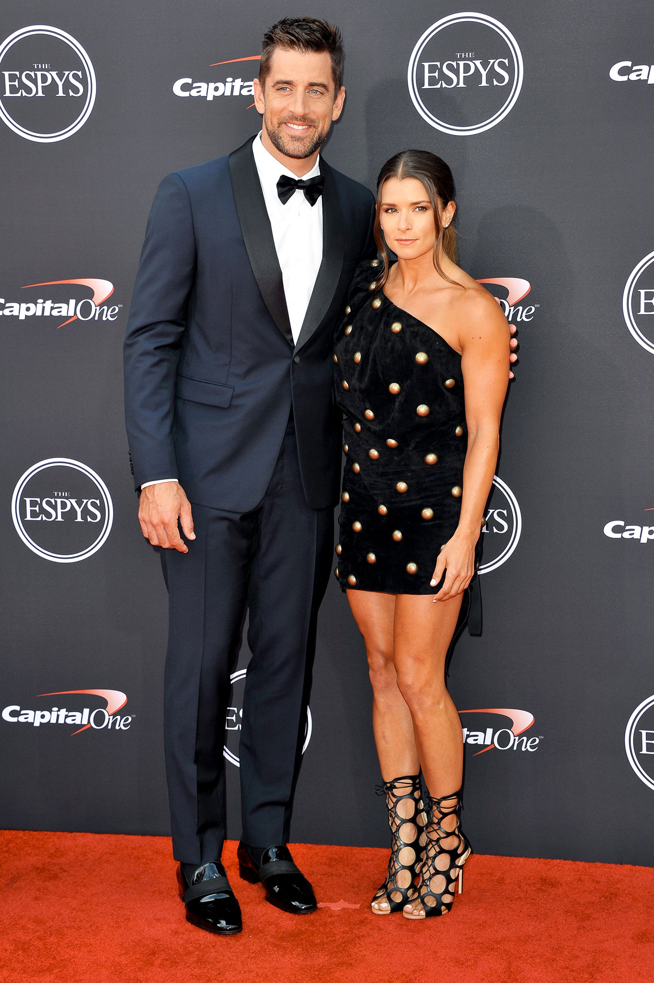 Couples Who Made Their Red Carpet Debuts at an Awards Show - The retired racer hosted the 2018 ESPY Awards, where she was accompanied by her boyfriend on the red carpet. The Green Bay Packers quarterback looked lovingly at his girlfriend while the pair posed for photos.