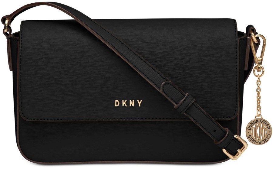 DKNY Saffiano Leather Bryant Flap Cross-Body