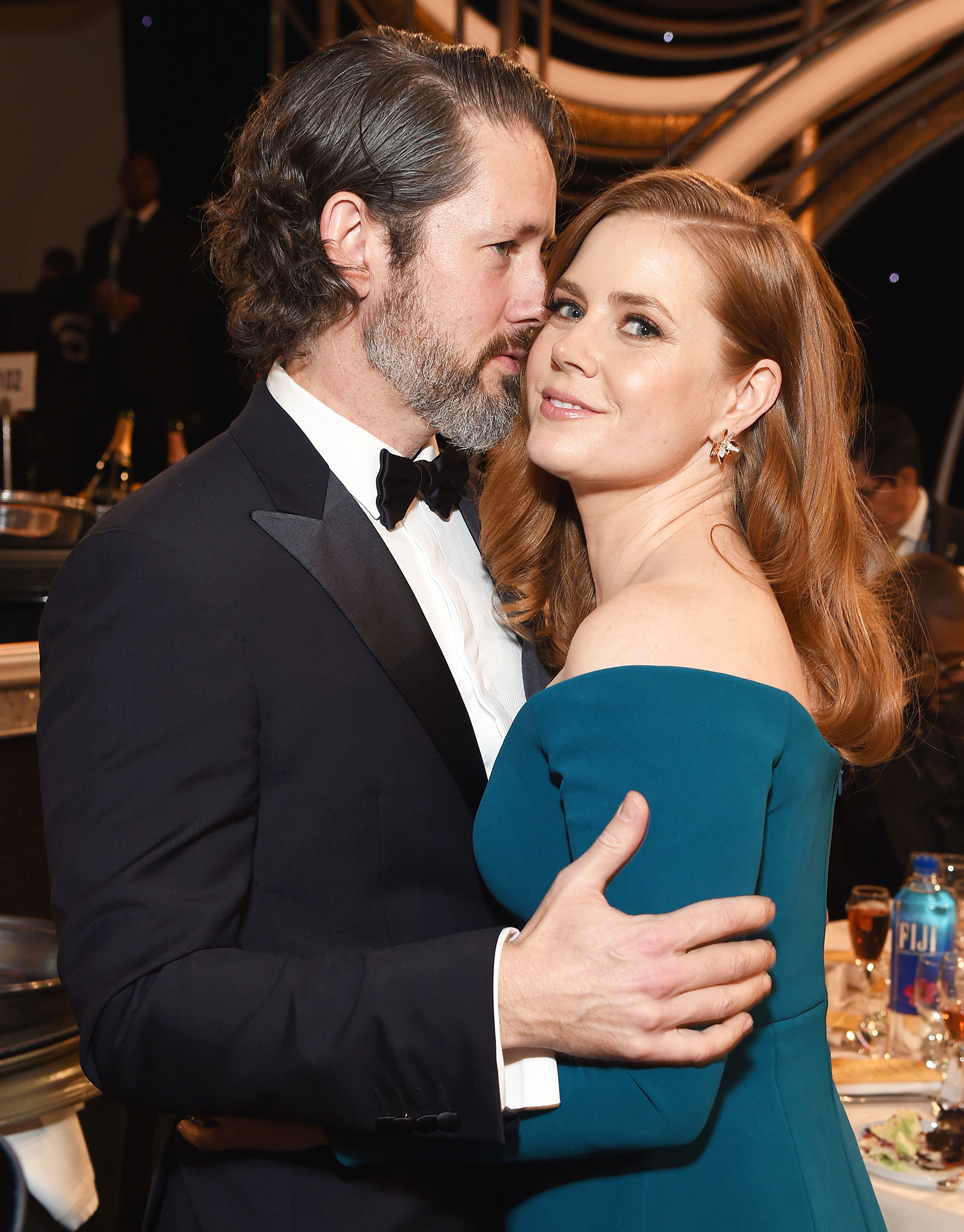 Inside Golden Globes 2019 Darren Le Gallo Amy Adams - Amy Adams ' husband, Darren Le Gallo , held her close during the reception.
