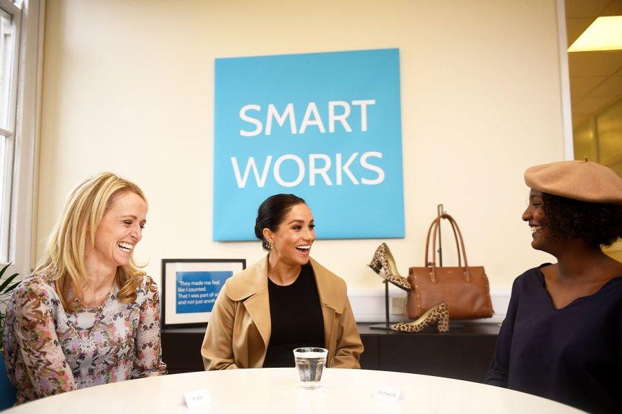 Duchess Meghan Smiles SmartWorks Four Patronages