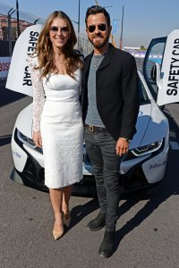 Elizabeth Hurley, Justin Theroux All Smiles at Marrakesh E-Prix