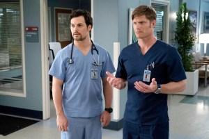 Giacomo Gianniotti and Chris Carmack on Grey's Anatomy
