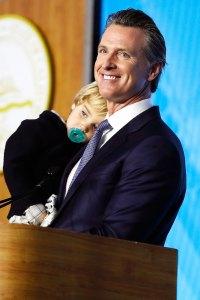 Gavin Newsom 2 year old California Governor's Toddler Interrupts Inaugural Address