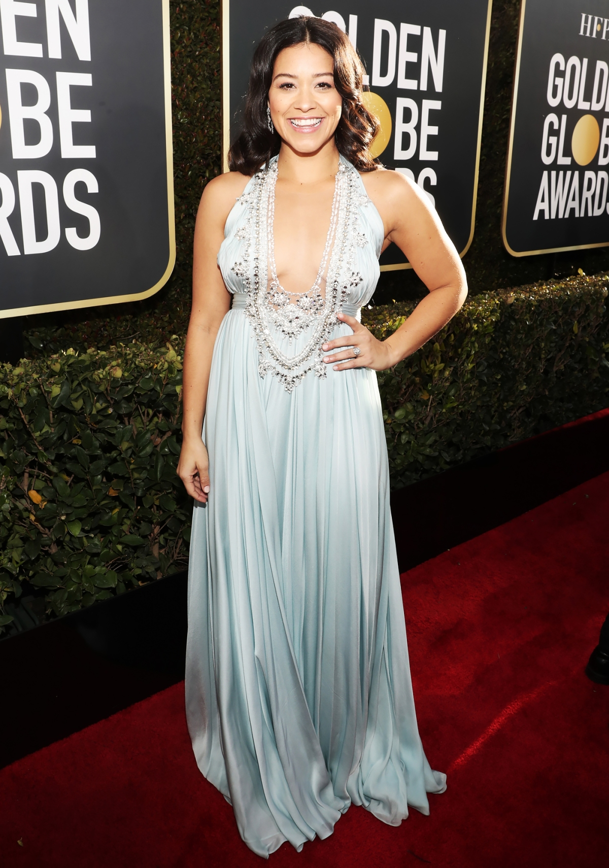 ecad1793774 Golden Globes 2019 Red Carpet Fashion  See Celeb Dresses