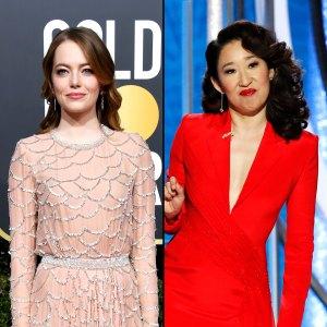 Golden Globes 2019: Emma Stone Yells 'I'm Sorry' After Sandra Oh's 'Aloha' Jab