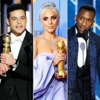 Rami Malek Lady Gaga Mahershala Ali Golden Globes 2019 Winners