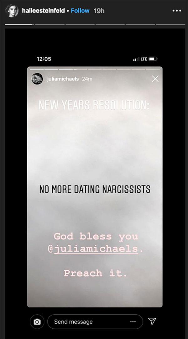 Hailee Steinfeld Shoots Down Rumors That She Threw Shade at Ex Niall Horan - Hailee Steinfeld/Instagram