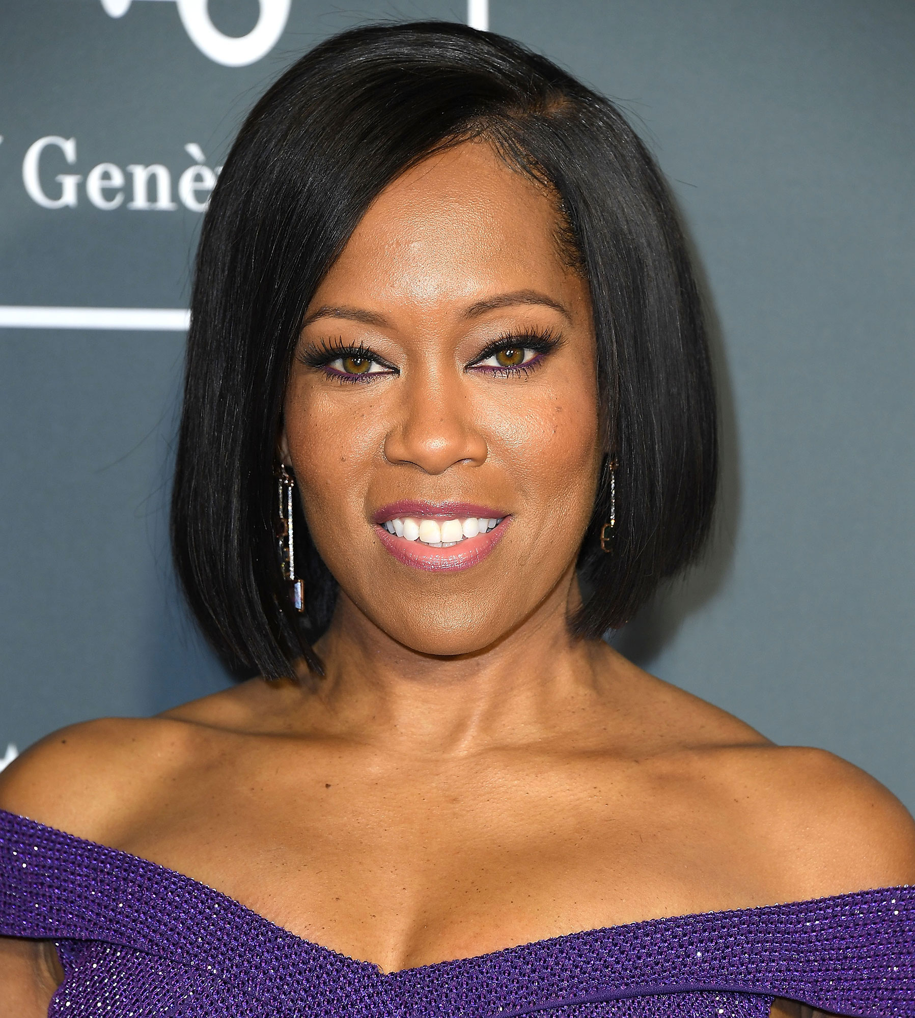 Regina King Critics' Choice Awards 2019 - With a sharp blunt bob and lavender lids.