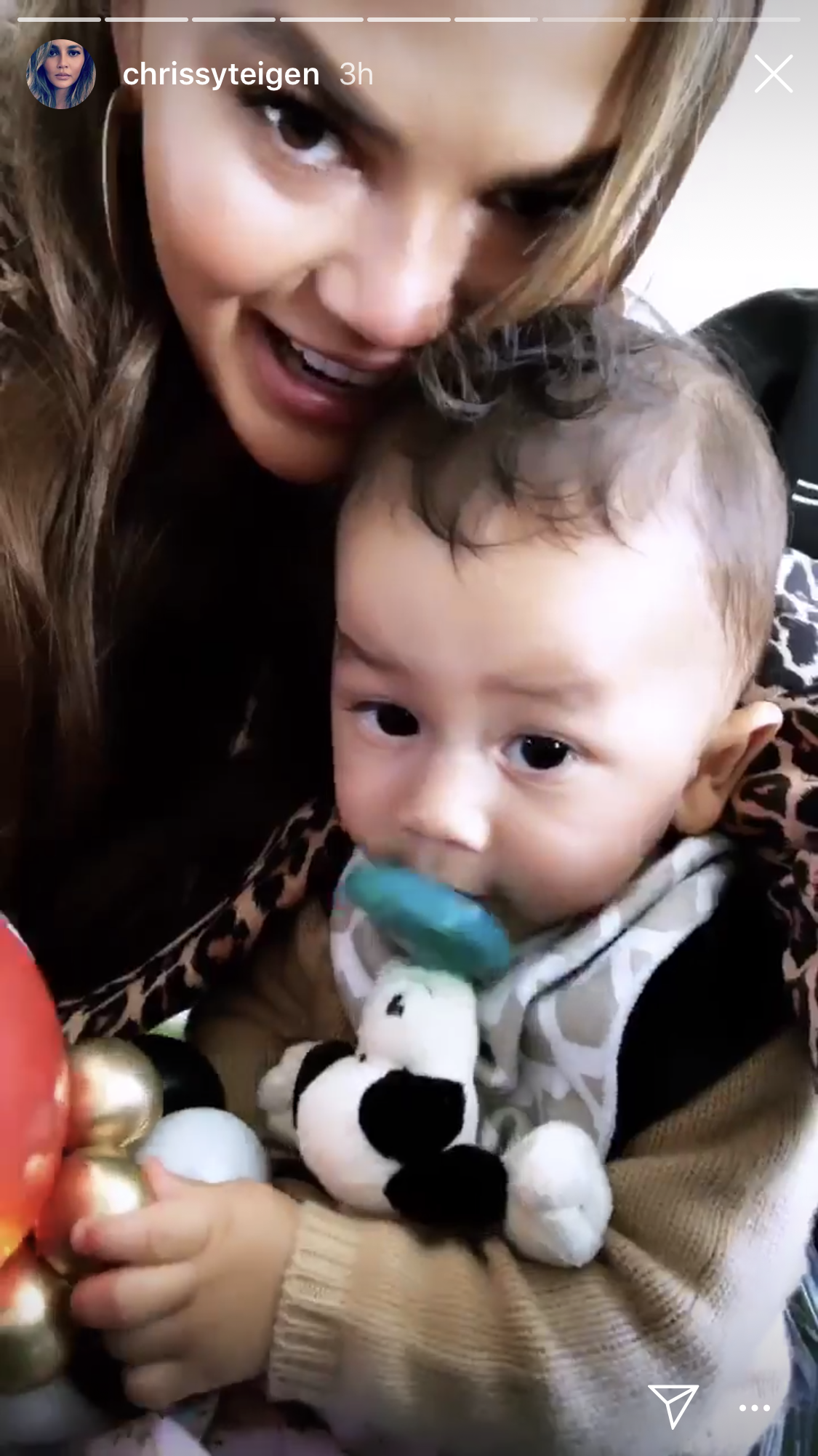 Kim Kardashian, chicago west, birthday party, alice in wonderland, chrissy teigen, john legend - Teigen shared a sweet video with Miles.