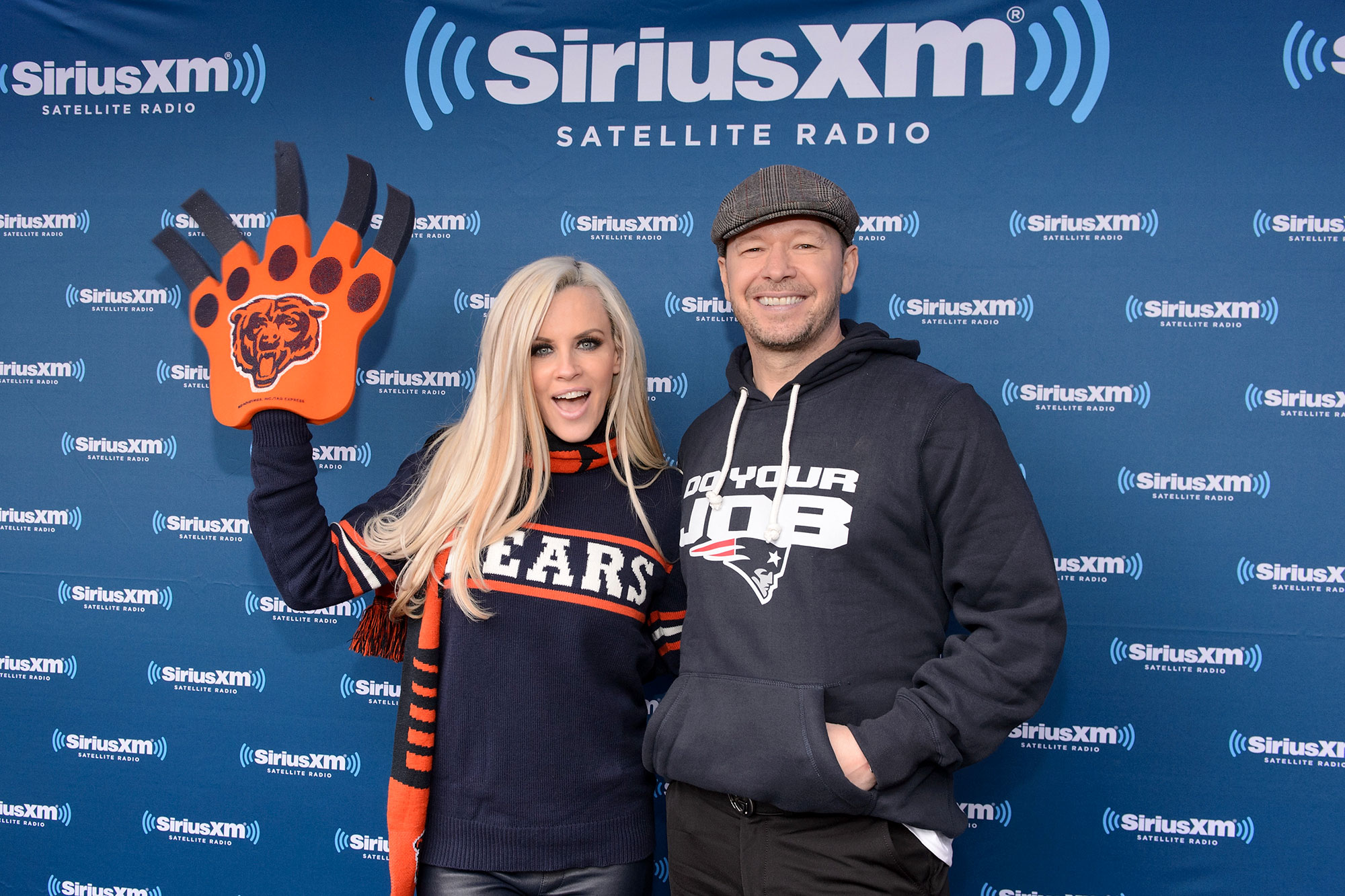 "Jenny-McCarthy-and-Donnie-Wahlberg-Celebs-Who-Love-Football - These two may see eye to eye on a lot, but when it comes to their sports teams, ""forget about it."" ""It doesn't cause friction,"" the Jenny McCarthy Show host, who reps her hometown of Chicago, told NBC Sports in April 2016 of her husband, a Patriots fan. ""He just made me appreciate a different team."""