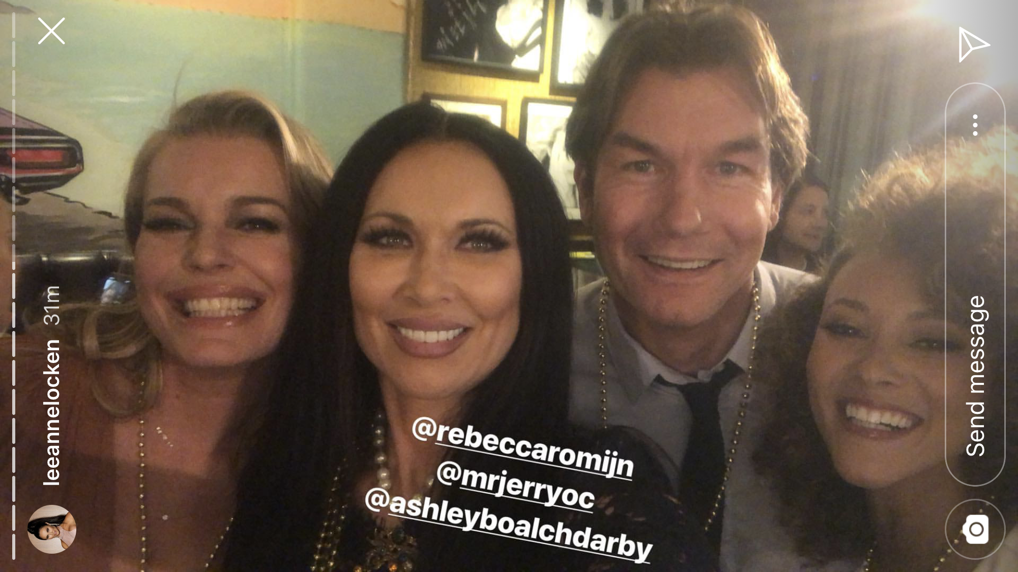andy cohen baby shower, jerry o'connell, rebecca romijn, leann locken, ashley darby - Romijn and O'Connell posed with Locken and Real Housewives of Potomac 's Ashley Darby .