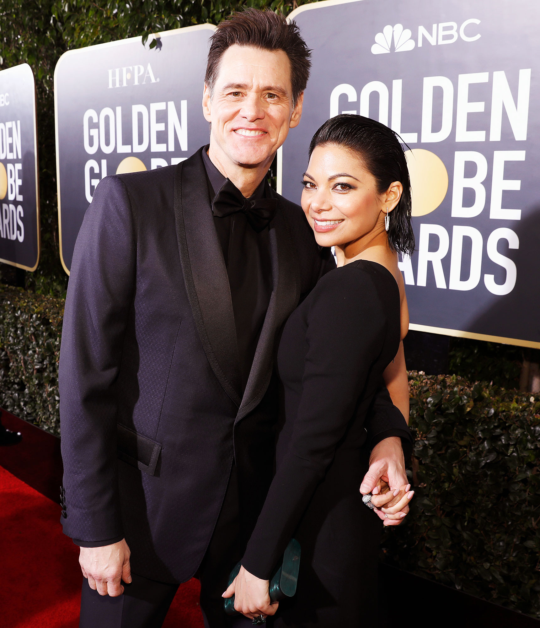 Jim Carrey Ginger Gonzaga Golden Globes 2019