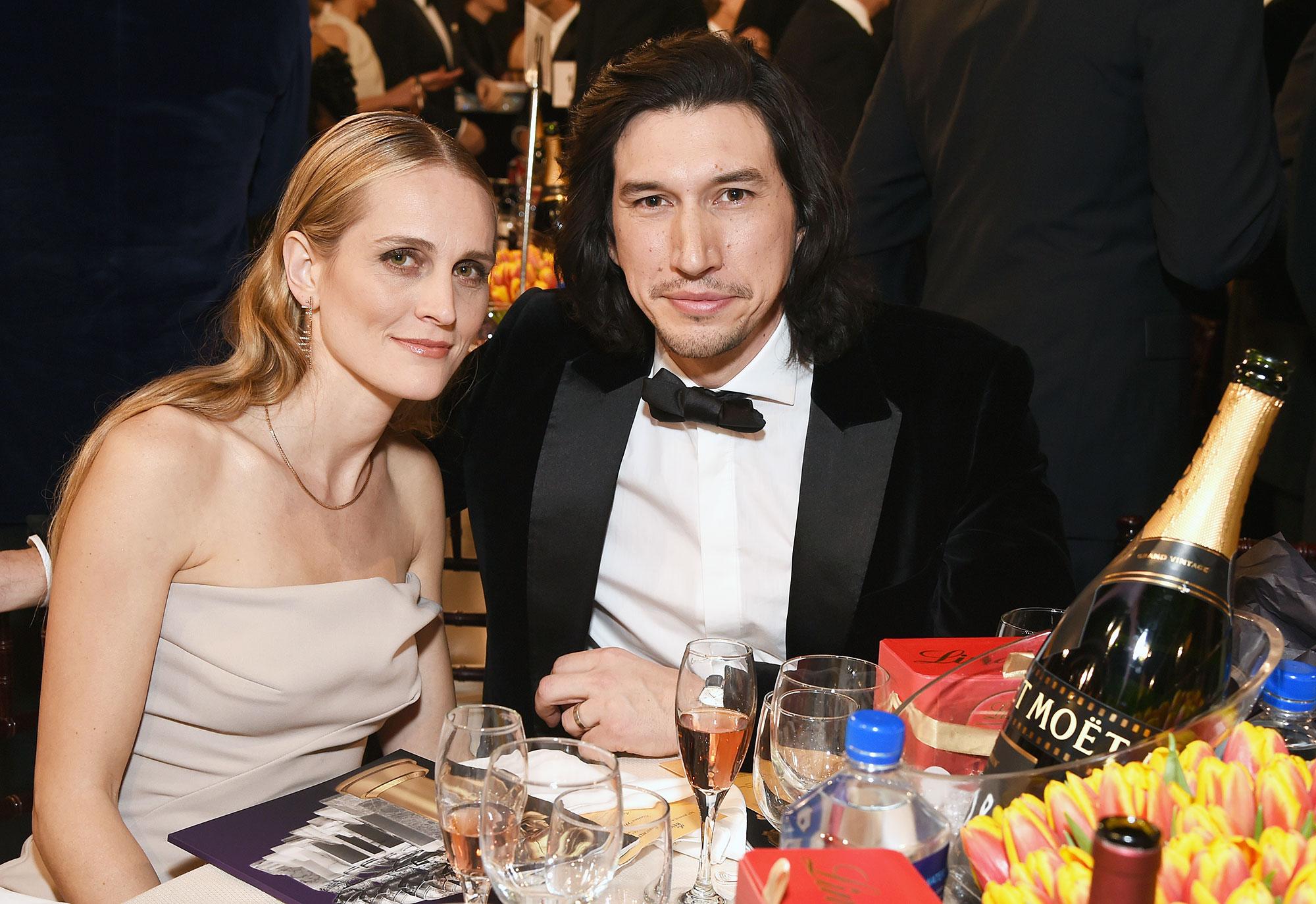 Inside Golden Globes 2019 Joanne Tucker Adam Driver - Adam Driver and wife Joanne Tucker turned the Globes into a date night.