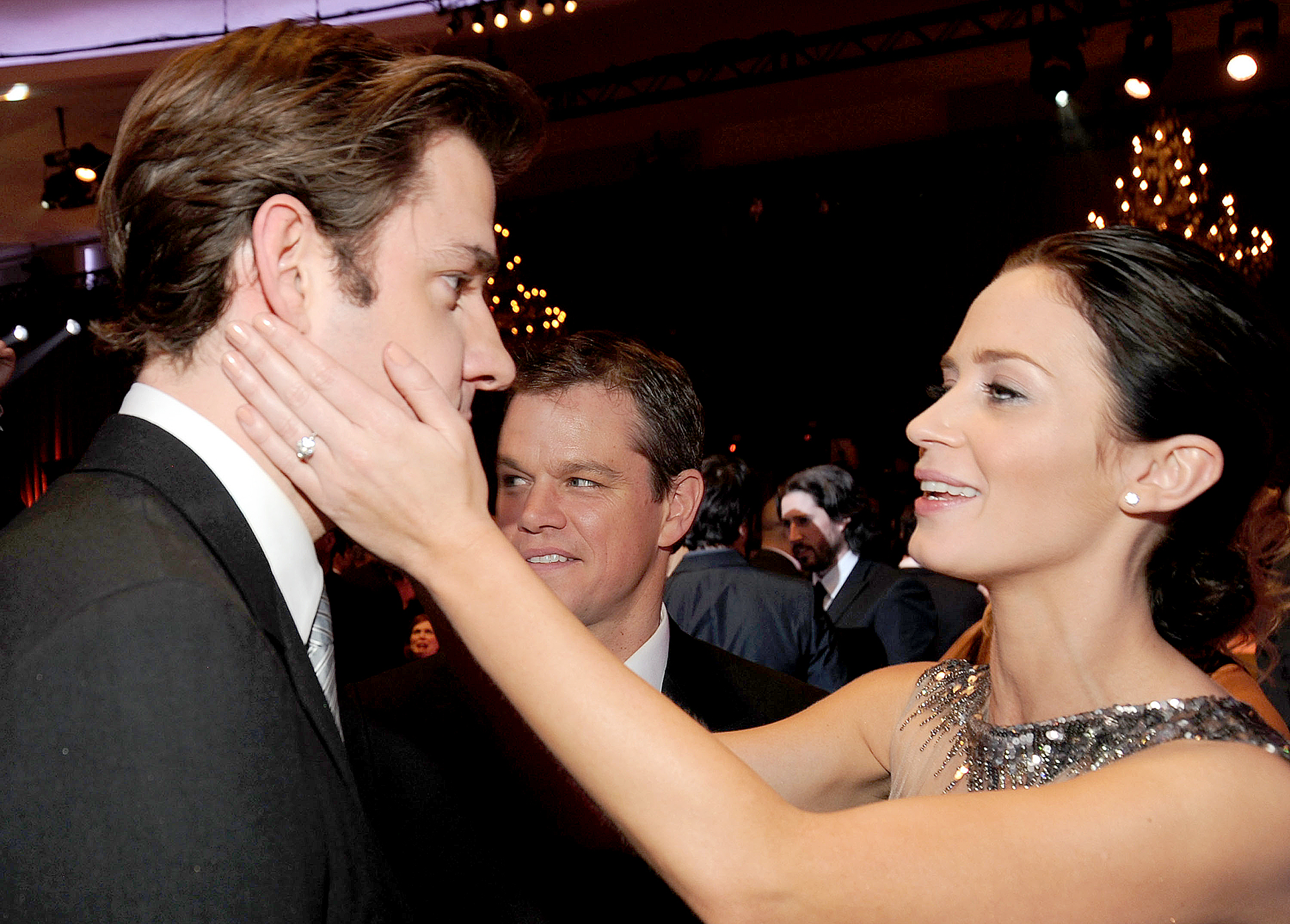 """John-Krasinski-and-Emily-Blunt-love-quotes - """"This is what I find difficult about talking about my marriage: It's hard to sum up something that's so vital and means everything to you in a sound bite. Do you know what I mean? All I can say is that it's an effing blast,"""" Blunt said in the June 2012 issue of Manhattan . """"It's just great, and I'm so happy."""""""