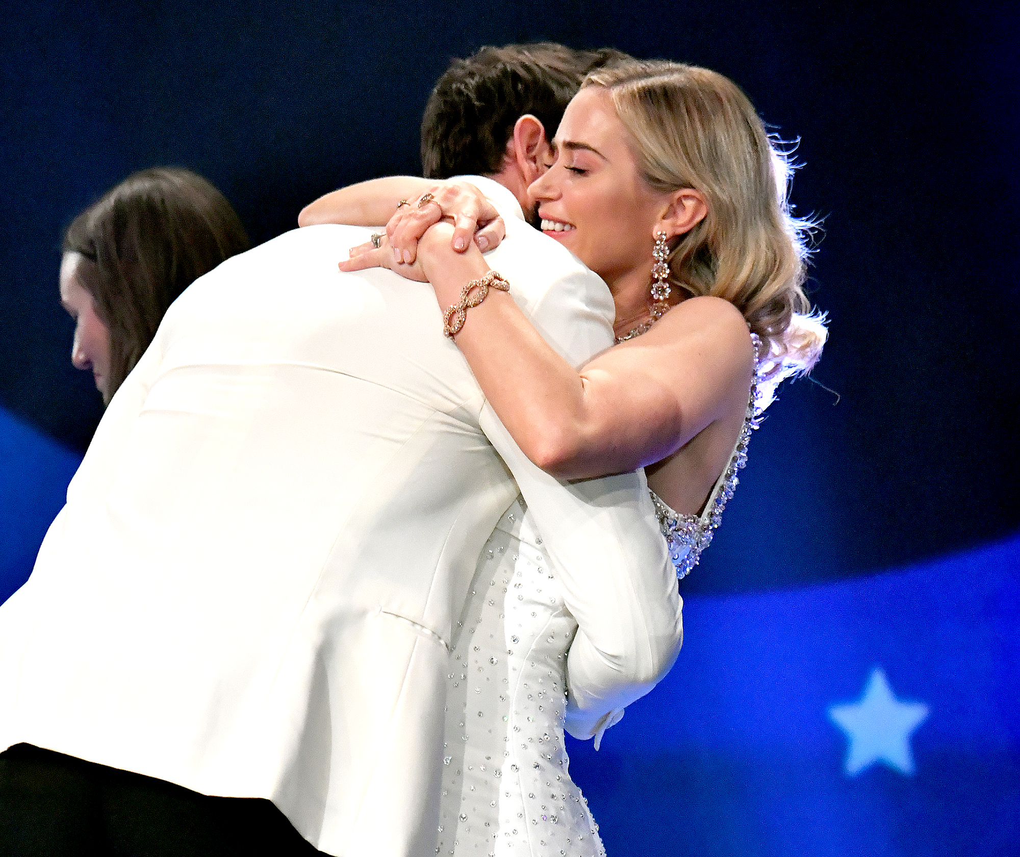 """John-Krasinski-and-Emily-Blunt-love-quotes - """"I just wanted to say thank you to all the incredible kindness that has been shown to this film – the critics, but most of all, everybody that has seen and loved this movie,"""" Krasinski said as he accepted the Critics' Choice award for Best Sci-Fi or Horror Movie for A Quiet Place in January 2019. """"It means the absolute world to our crew and to our cast and to no one else more than me. I got to make a movie about a love story, and a love letter to my kids and I got to do it with the love of my life by my side. So, I'm pretty sure it doesn't get much better than that!"""""""