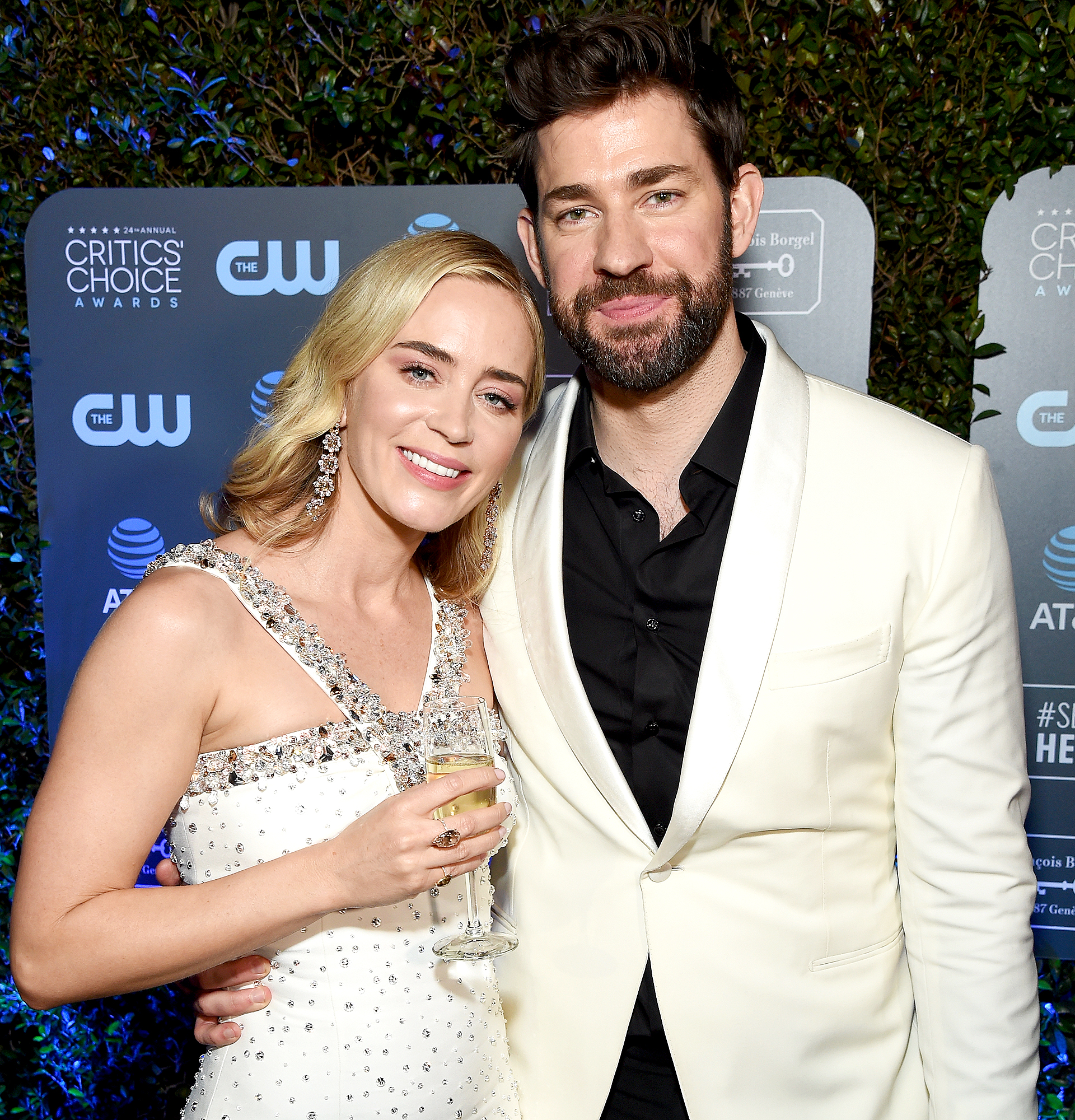 """John-Krasinski-and-Emily-Blunt-love-quotes - """"I think a lot of people cry watching this film. People almost talk about it like, 'John Krasinski cried watching this film,'"""" Blunt told Us in January 2019 about her role in Mary Poppins Returns . """"But it was wonderful to see him that emotional about it, and I think he himself, amongst other people I've spoken to, have said they don't know why they are so emotional about it."""""""