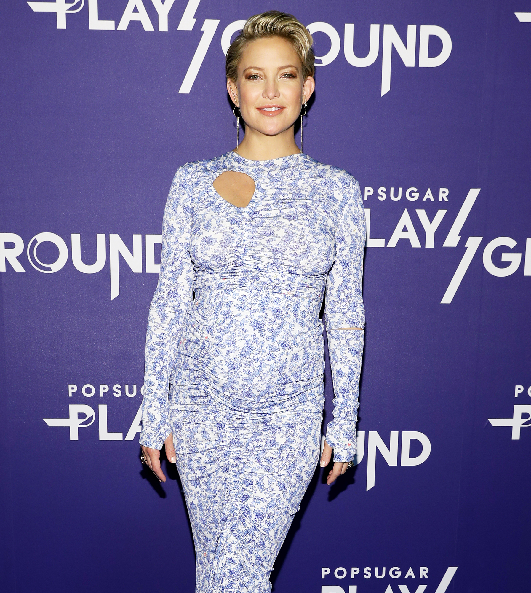 Kate Hudson Breast Feeds Daughter While Working Out