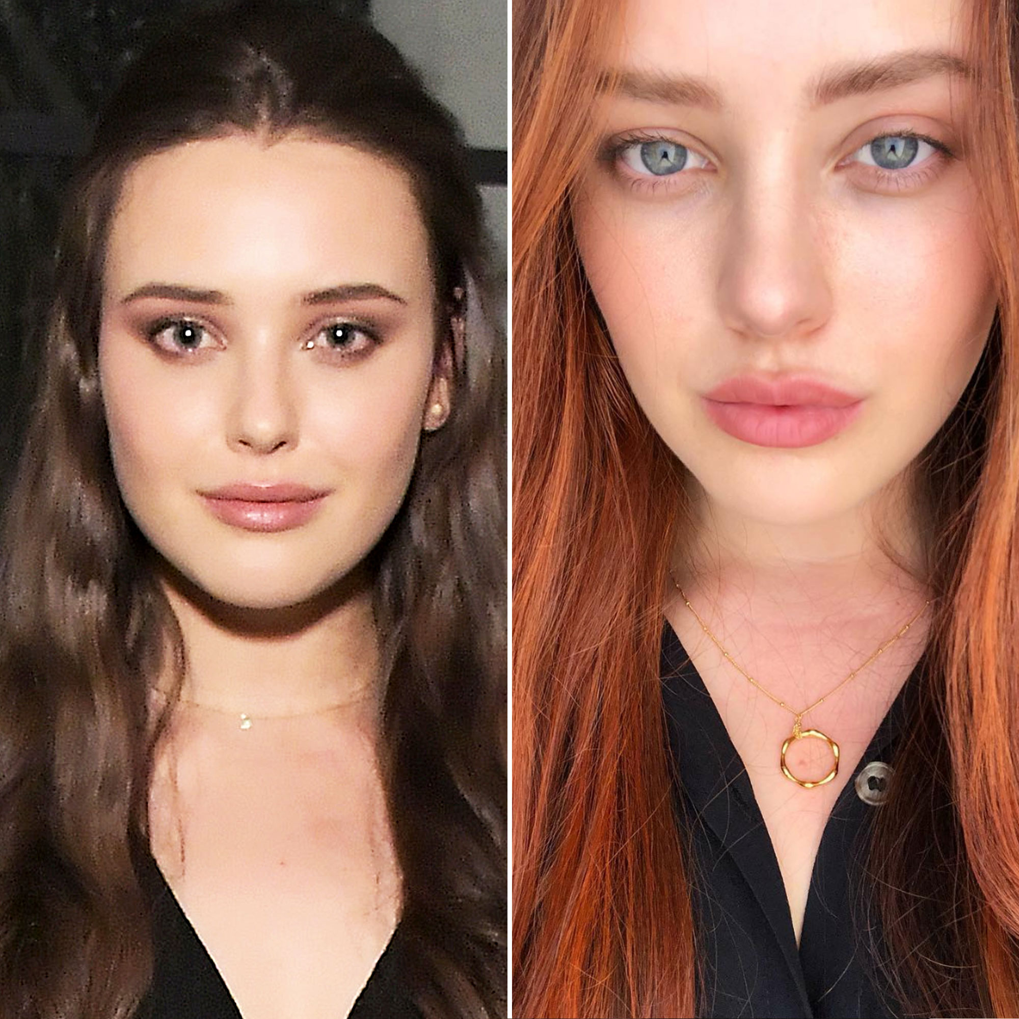 "Katherine Langford Is a Redhead and More Celeb Hair Changes - The Aussie beauty shared on Instagram that she has traded her chestnut brown locks for a sunset-inspired red-orange shade. ""She (red)y 💇💁,"" the 13 Reasons Why star cheekily captioned the selfie."