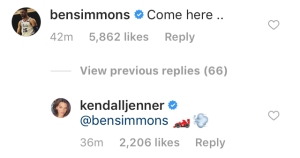 Kendall-Jenner,-Ben-Simmons-Get-Flirty-on-Instagram