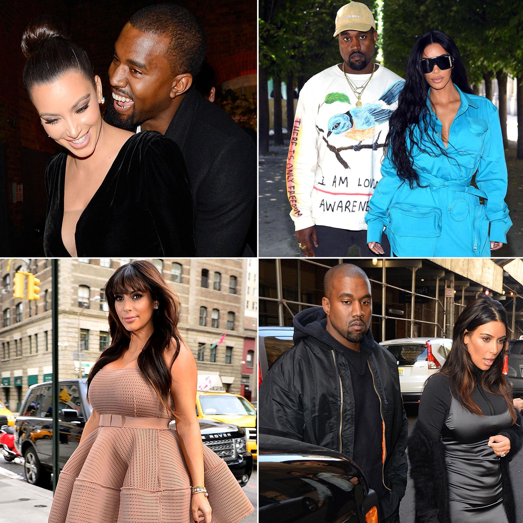 Kim Kardashian Kanye West dating sedan