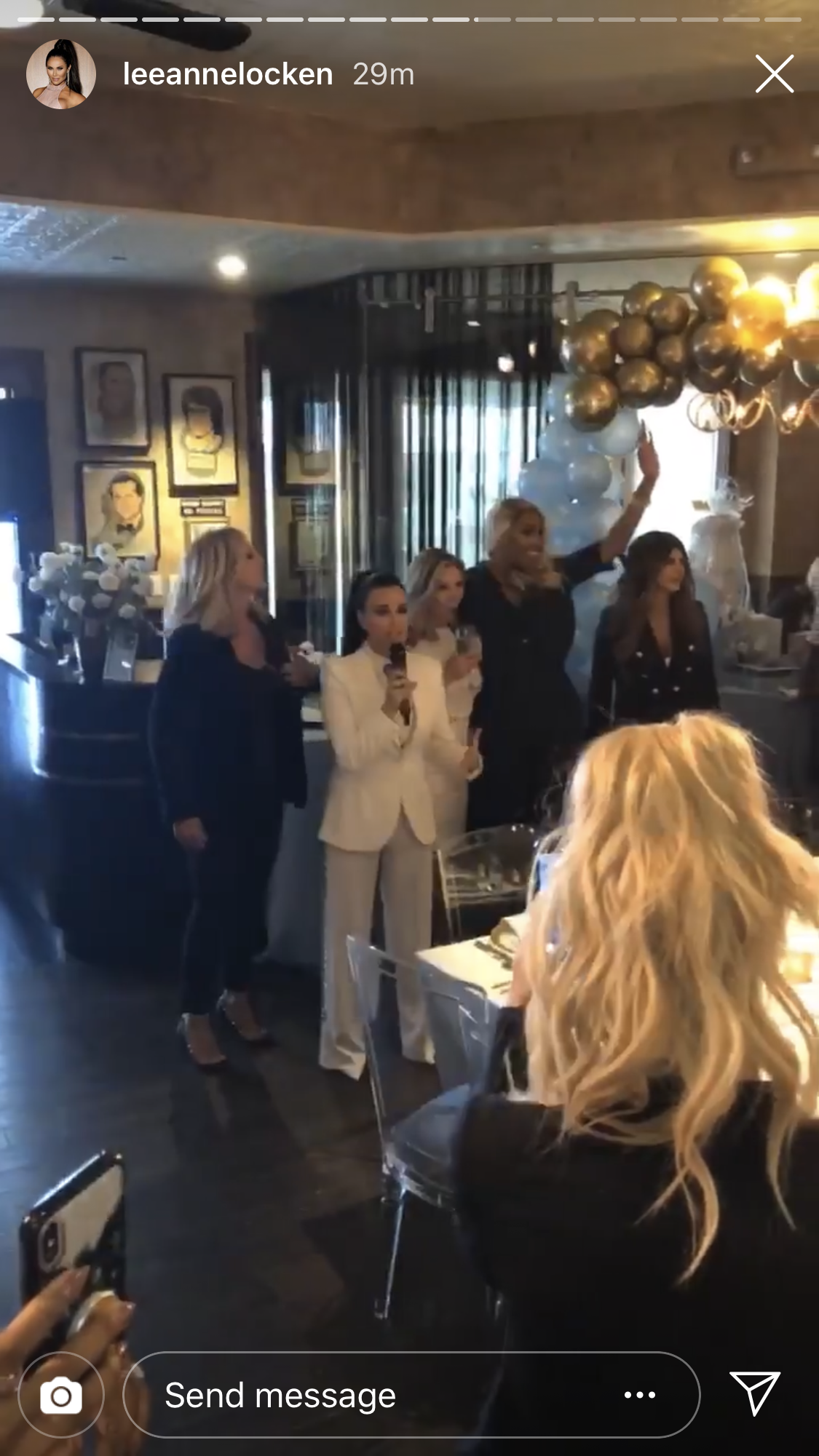 "Andy Cohen, Baby Shower, real housewives, kyle richards, nene leakes, vicki gunvalson, teresa giudice, ramona singer - Kyle Richards called up her fellow OG Housewives, including Gunvalson, Singer, Leakes and Giudice and told the crowd, ""The fact that all of you have shown up I know means a lot to him. And it makes this day all the much more special. We all love Andy. We all share so much of our lives with him and the fact that we are sharing this moment with him is so incredible."""