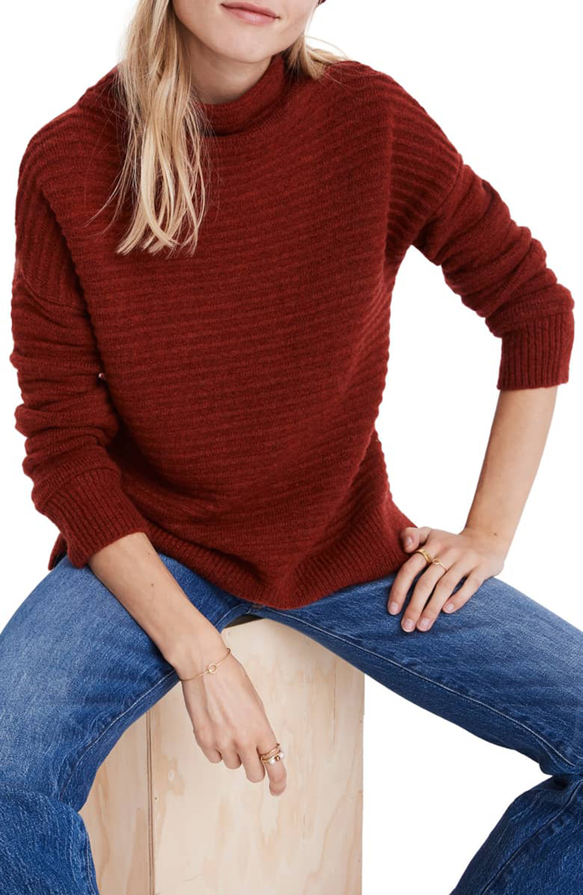 Madewell Belmont Sweater Red