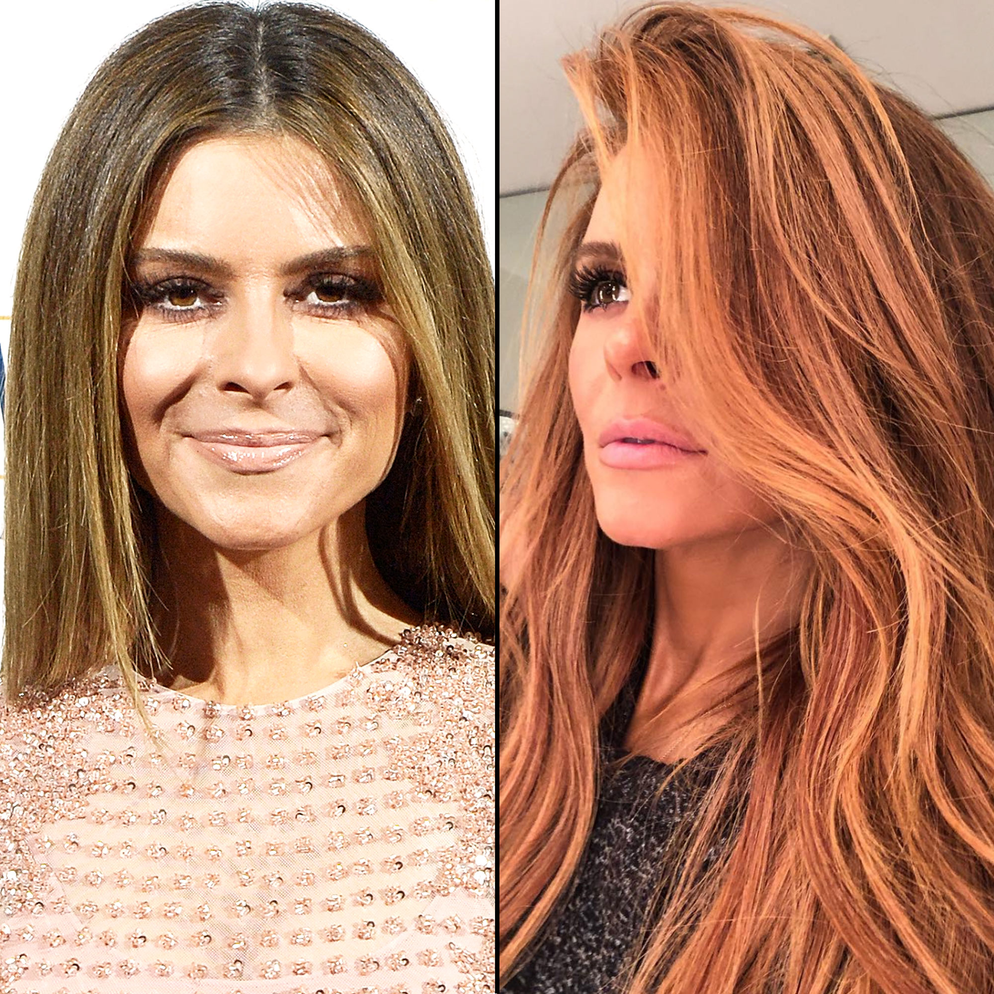 "Maria Menounos Is the Latest Star to Change Up Her Hair in 2019 - ""New year-new color!"" is how the TV personality captioned the selfie of her new red 'do on Instagram on Tuesday, January 29. On his own feed, her mane man Dimitri Giannetos shared that the multi-dimensional auburn hue is the first time the star has ever deviated from her usual bronde shade."