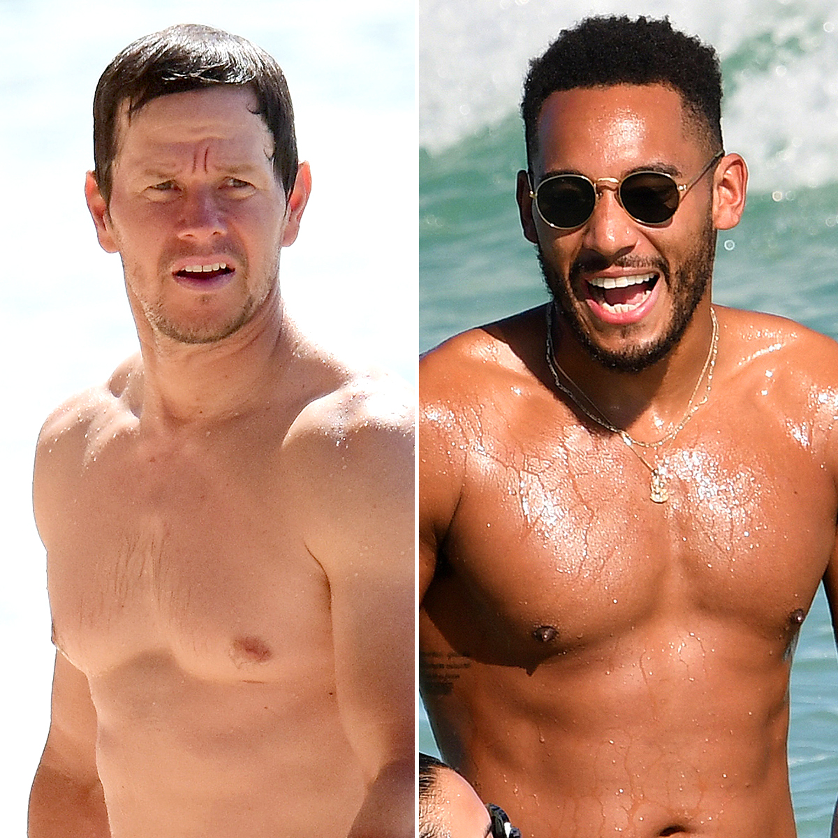 Mark-Wahlberg-Josh-Denzel-shirtless - There's nothing like a hot dude on the beach to remind Us of how hard famous actors, athletes, TV hosts, reality stars and other Hollywood men work on their physiques. Whether you're into pecs, six-packs , strong legs, muscular arms or a good set of obliques on your hunks, there's a whole slew of in-shape, shirtless celebrities — including Mark Wahlberg , Victor Cruz and Jared Leto — parading their hard-won beach bodies atop yachts, by the pool and on the sand.