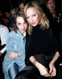 Uma Thurman Maya Hawke Mother Daughter Twinning Paris Fashion Week