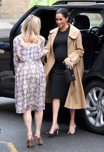 Meghan Markle Wears 218 Hatch Maternity Dress During Her Visit to Smart Works Charity