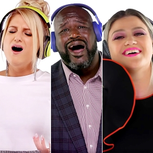 Meghan-Trainor,-Shaq,-and-Kelly-Clarkson-since-youve-been-gone