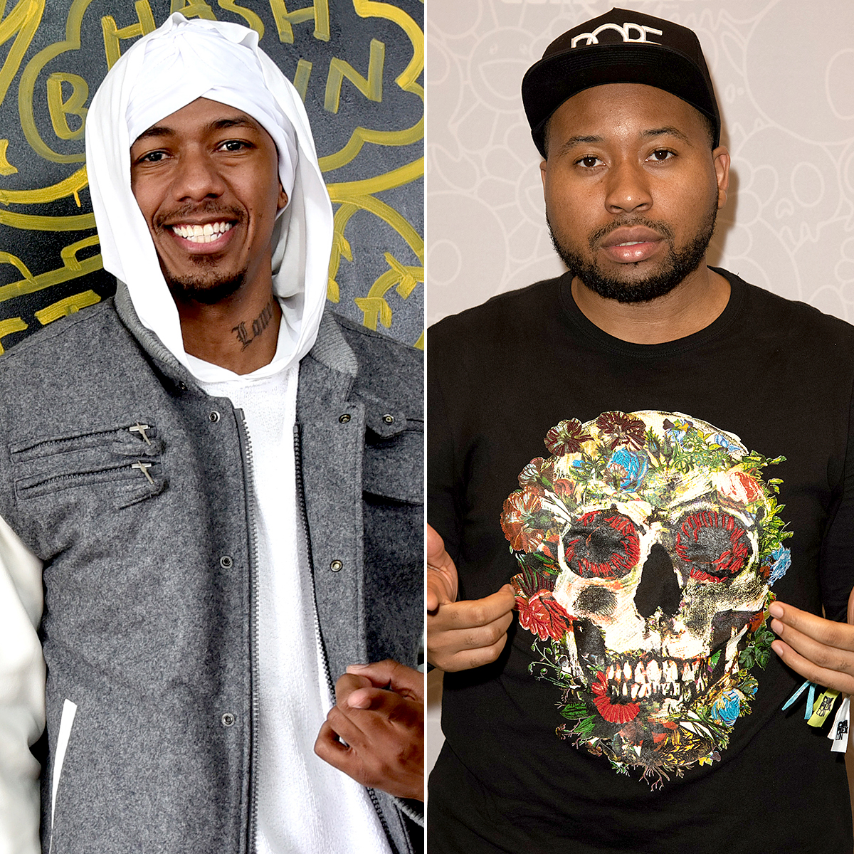"""Nick-Cannon-DJ-Akademiks - In September 2018, Nick Cannon and DJ Akademiks discussed Drake, Pusha T and West's drama, during an Everyday Struggle interview with Complex . DJ Akademiks stated, """"I think Drake smashed Kim K,"""" to which Cannon commented, """"That ain't that far off of a concept."""""""
