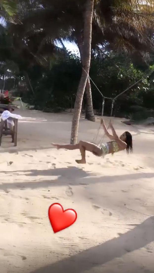 Nick Jonas and Priyanka Chopra's Honeymoon - Chopra, who rocked a yellow bikini, was laughing in a the video shared by her husband via his Instagram Story.