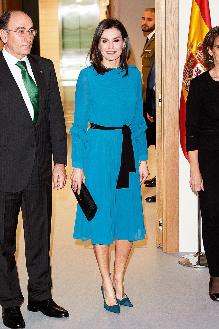 Queen Letizia blue dress