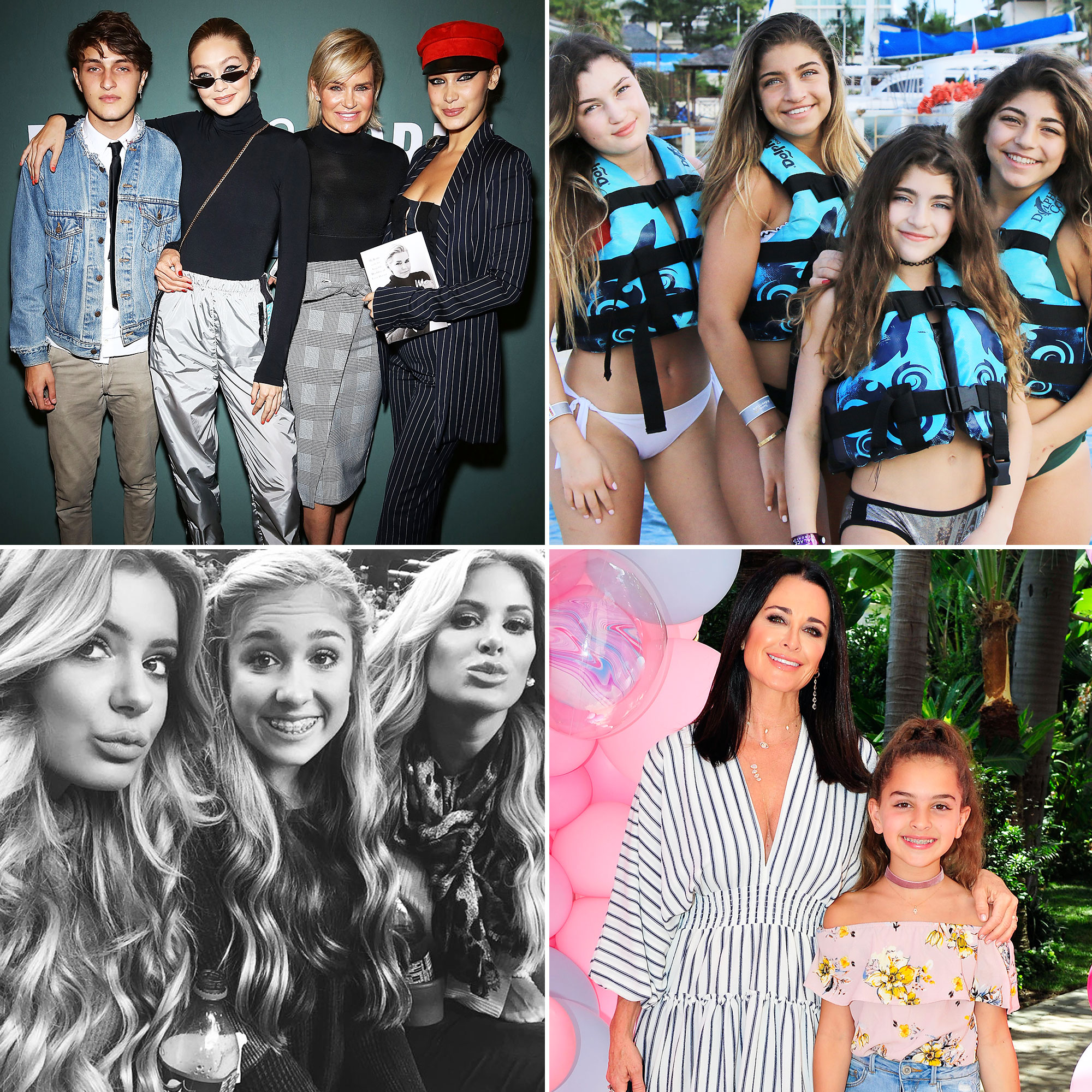 Real Housewives' Kids, Then And Now