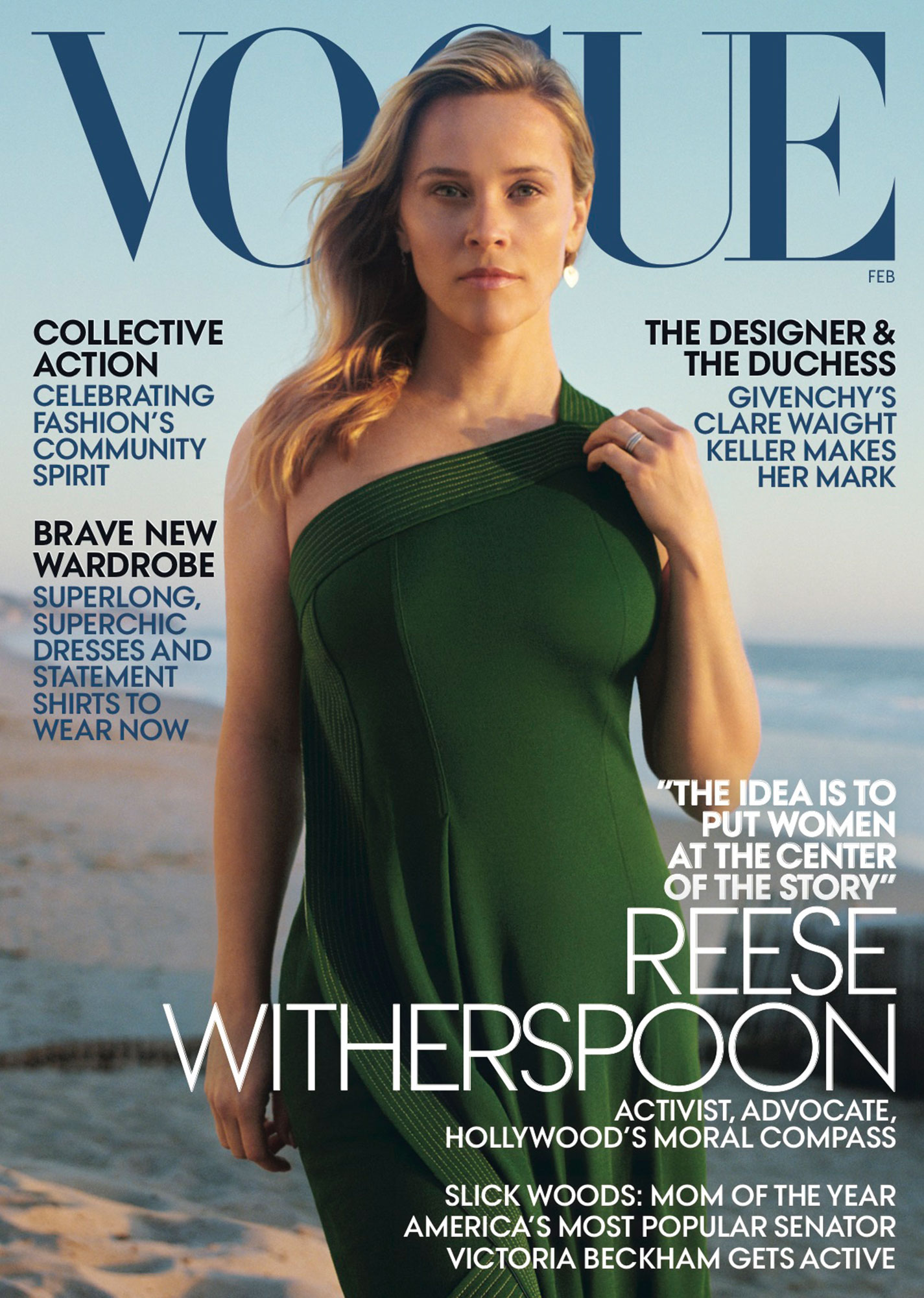 Reese Witherspoon Posed With Her Mom and Daughter on the February Cover of 'Vogue' - Reese Witherspoon on the cover of Vogue